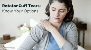 Know your options - Rotator Cuff Tears